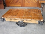 Golden Blonde Industrial Cart Table OCS 18072