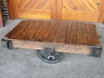 Industrial Lineberry Cart Table 19042