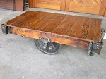 Industrial Lineberry Cart Table 19051