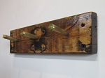 Reclaimed Wood 50 Caliber Bullet Casing Coat Rack