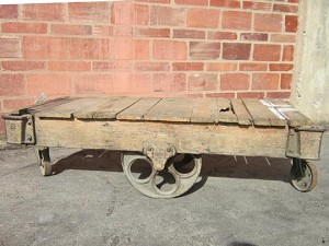 Unrefurbished Lineberry Cart with oversize daisy wheels #U1412
