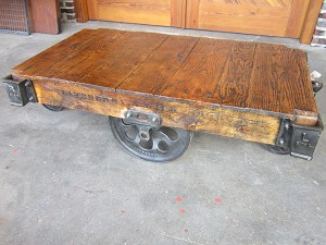 Industrial Lineberry Cart Table 19052