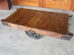 Industrial Lineberry Cart Table 19063