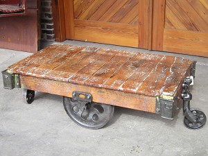 Industrial Lineberry Cart Table 20023